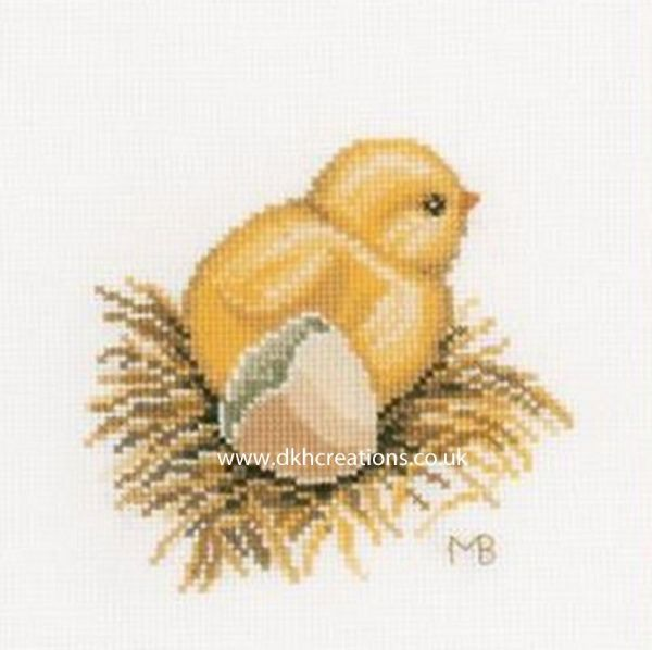 Chick With Egg Shell Cross Stitch Kit